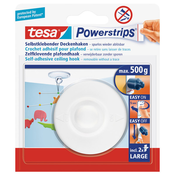 Tesa POWER-STRIP DECKENHAKEN