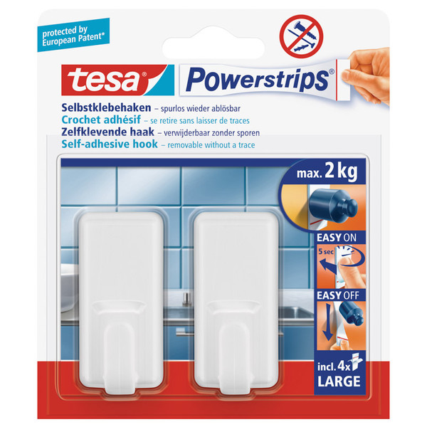 Tesa POWER-STRIP WANDHAKEN