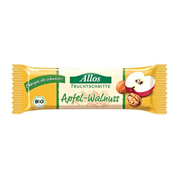 Allos Apfel-Walnuss Schnitte - Müsliriegel