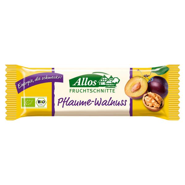 Allos Pflaume-Walnuss Schnitte - Müsliriegel