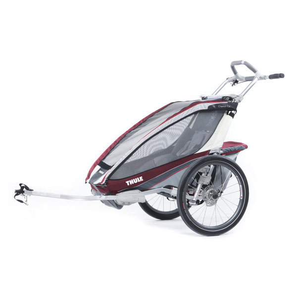Chariot CX1 burgundrot/grau/silber