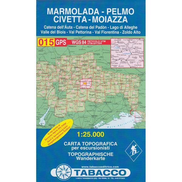 Tabacco 015 Marmolada Pelomo Civetta