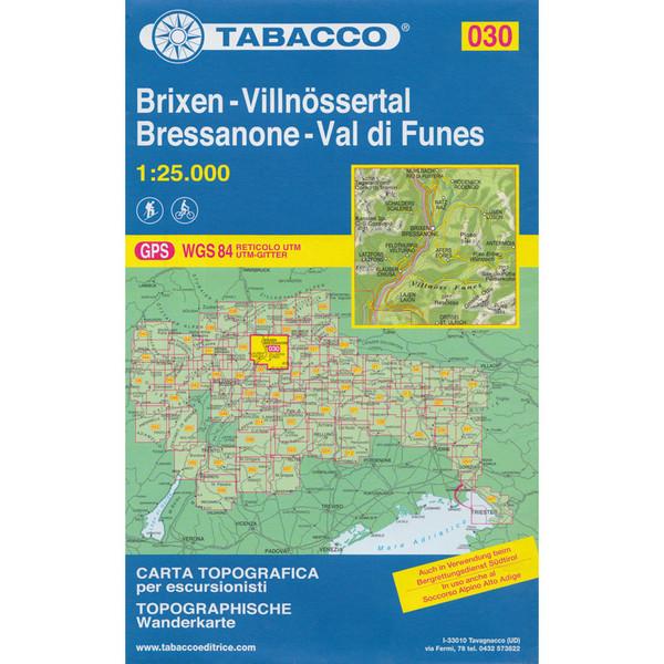Tabacco 030 Brixen/Villnösstal