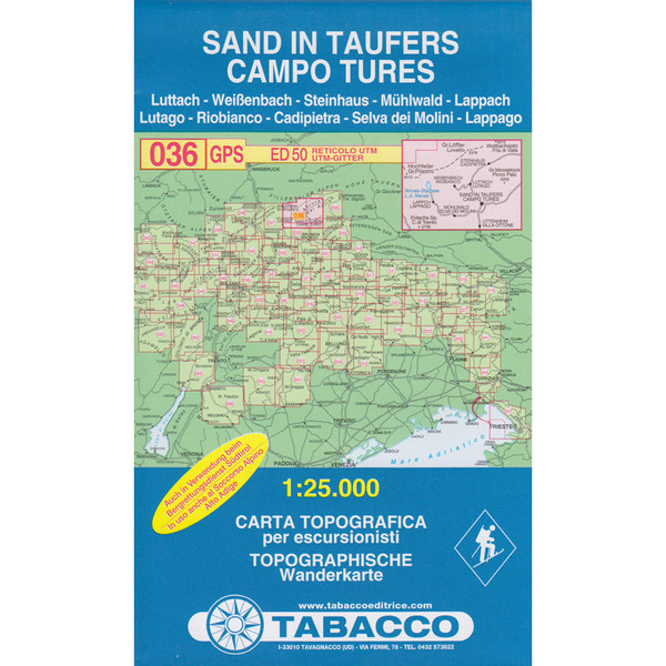 TABACCO 036 SAND IN TAUFERS - Wanderkarte