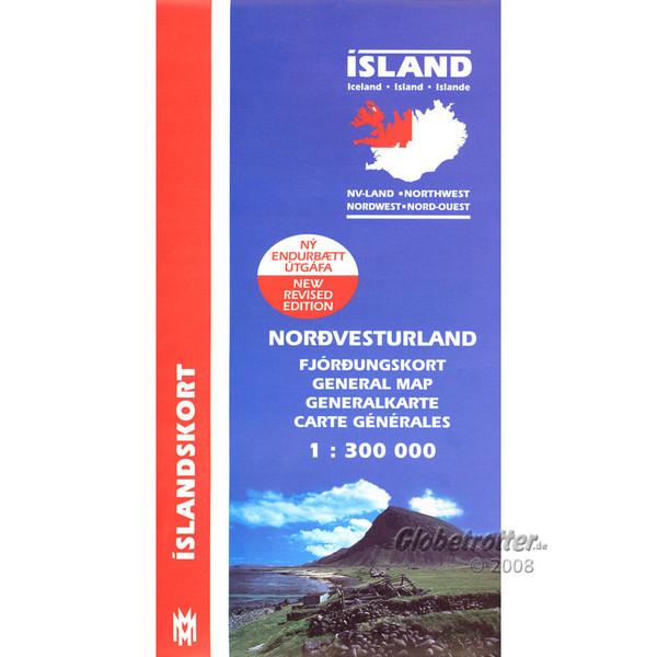 Island Nordwest 1:300 000