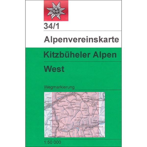 DAV 34/1 WEG KITZBÜHELER ALPEN WEST - Wanderkarte