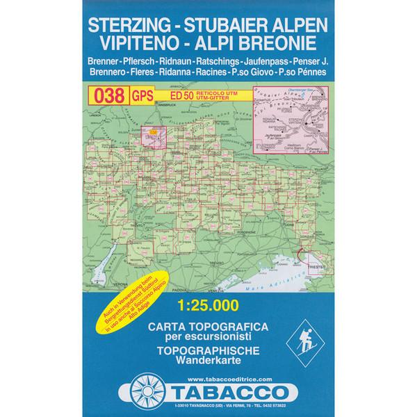 TABACCO 038 STERZING STUBAIER ALPEN - Wanderkarte