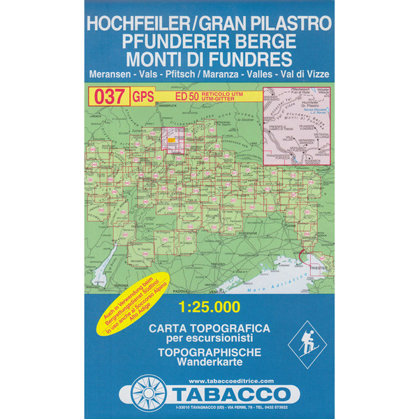 TABACCO 037 HOCHFEILER PFUNDERER BERGE - Wanderkarte