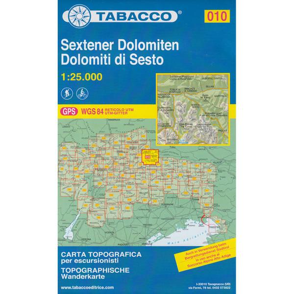 TABACCO 010 SEXTENER DOLOMITEN - Wanderkarte