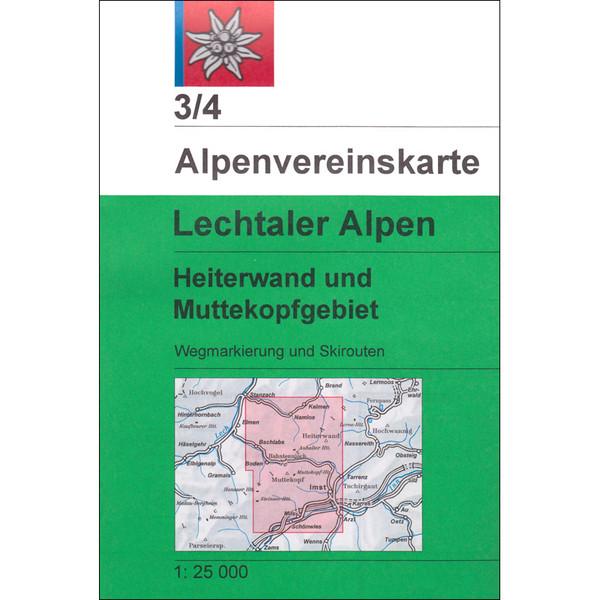 DAV 3/4 LECHTALER ALPEN, HEITERWAND - Wanderkarte