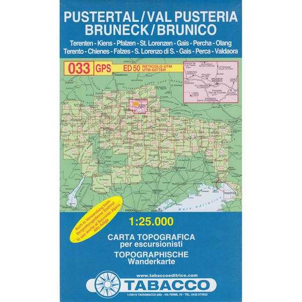 TABACCO 033 PUSTERTAL - BRUNECK - Wanderkarte