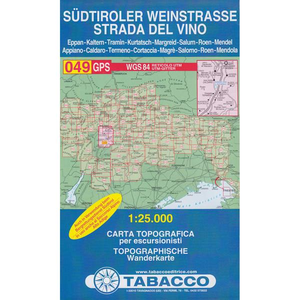 TABACCO 049 SÜDTIROLER WEINSTRAßE - Wanderkarte