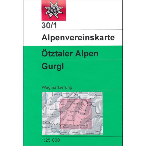DAV 30/1 WEG ÖTZTALER ALPEN GURGL - Wanderkarte