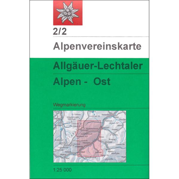 DAV 2/2 ALLGÄUER/LECHTALER ALPEN - Wanderkarte