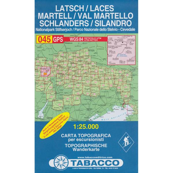 TABACCO 045 MARTELL SCHLANDERS LATSCH - Wanderkarte