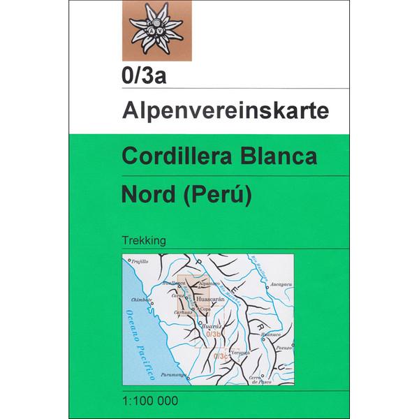 DAV 0/3A CORDILLERA BLANCA NORD 1:100T - Wanderkarte