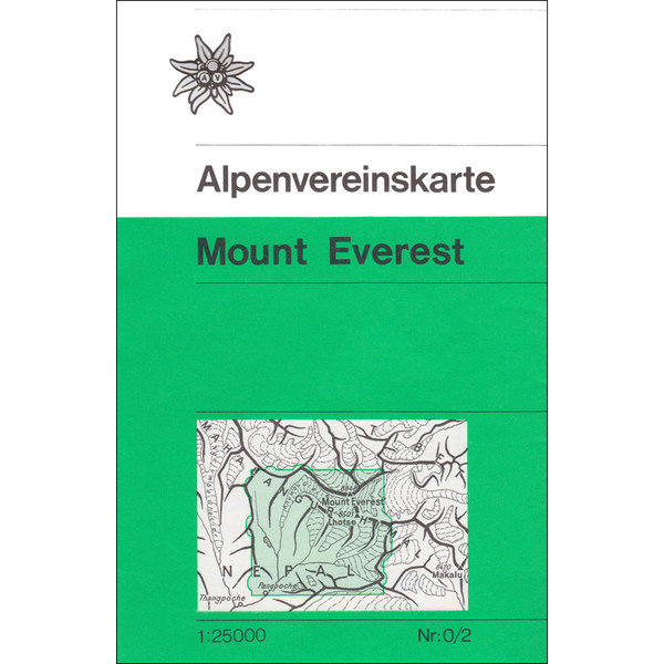 DAV 0/2 MOUNT EVEREST 1:25.000 - Wanderkarte