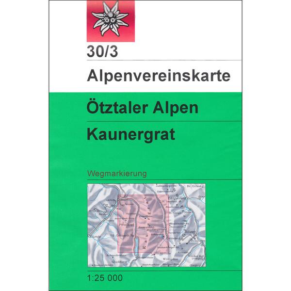 DAV 30/3 ÖTZTALER ALPEN KAUNERGRAT - Wanderkarte