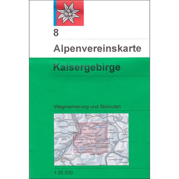 DAV 8 KAISERGEBIRGE - Wanderkarte