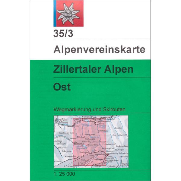 DAV 35/3 ZILLERTALER ALPEN OST - Wanderkarte