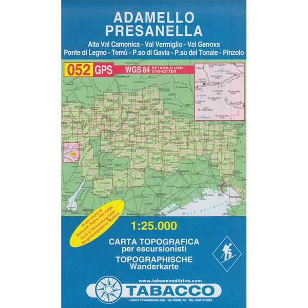 Tabacco 052 Adamello-Presanella
