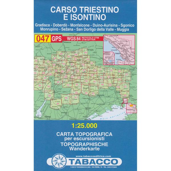 TABACCO 047 CARSO TRIESTINO E ISONTINO - Wanderkarte