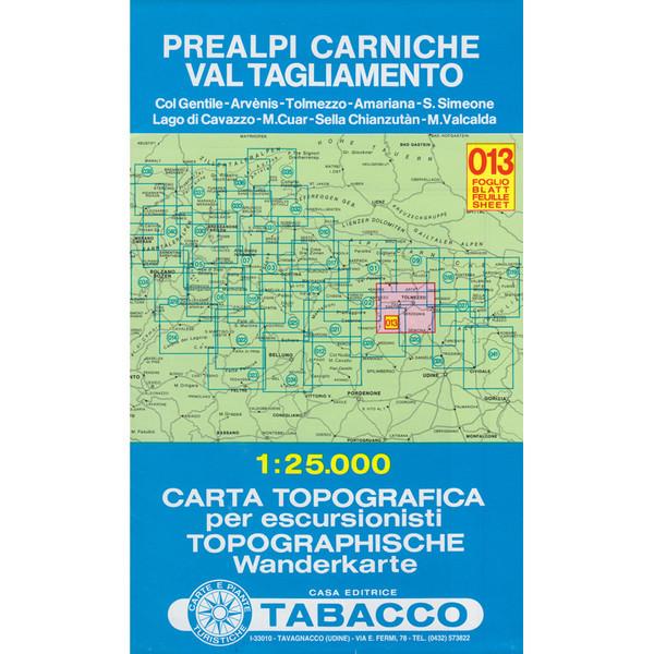 Tabacco 013 Prealpi Carniche