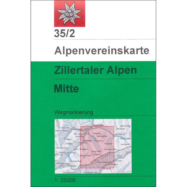 DAV 35/2 ZILLERTALER ALPEN MITTE - Wanderkarte