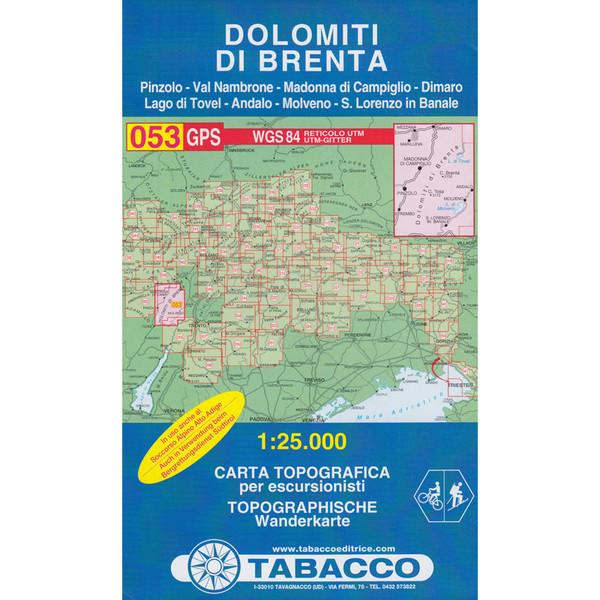 TABACCO 053 DOLOMITI DI BRENTA - Wanderkarte