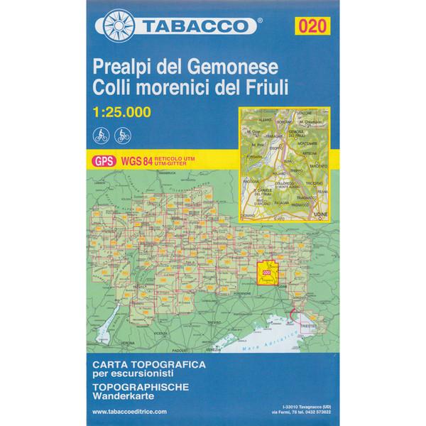 Tabacco 020 Prealpi Carniche e Giulie