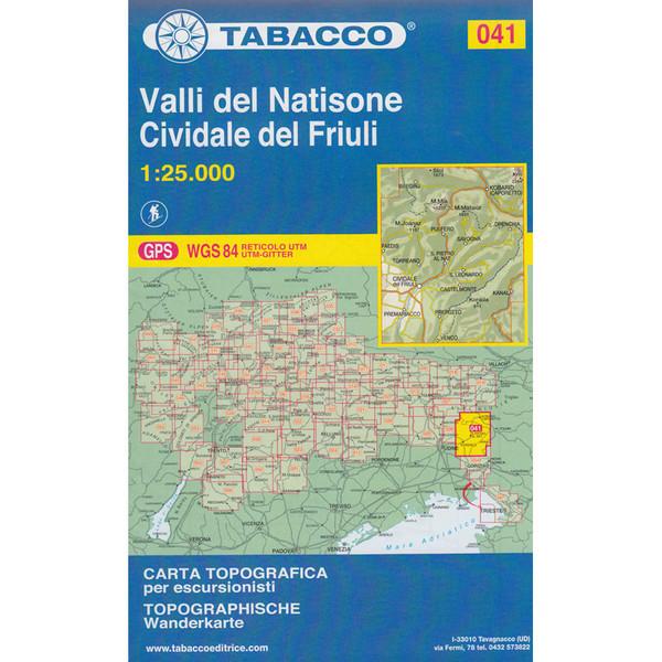 Tabacco 041 Valli del Natisone