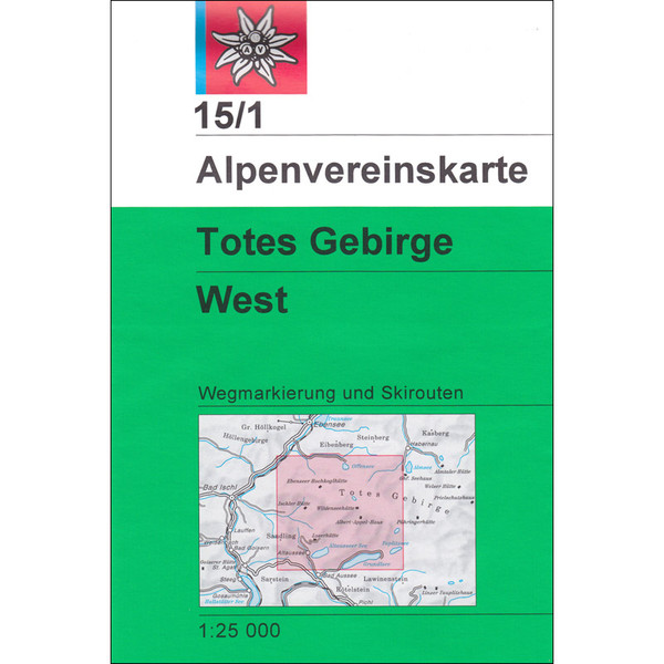 DAV 15/1 Totes Gebirge West 1:25T