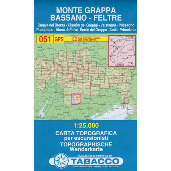 Tabacco 051 Monte Grappa-Bassano