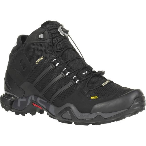triathlon schuhe adidas terrex fast r mid gtx® herren hiking stiefel leadsolar blauschwarz x9nul