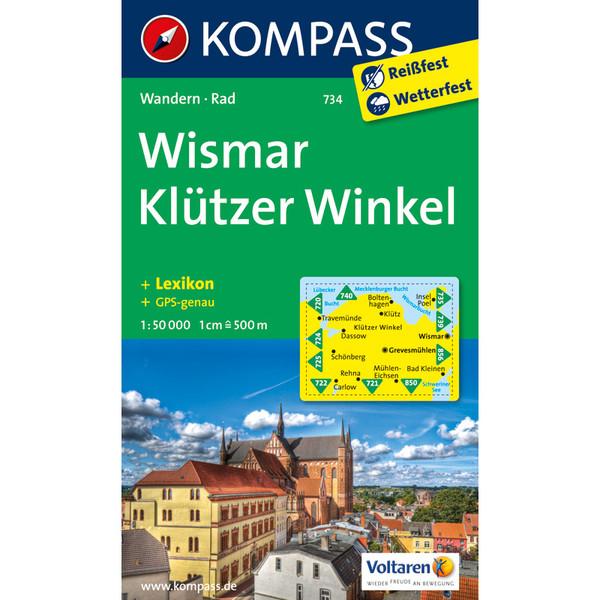KOKA-734 WISMAR - KLÜTZER WINKEL - Wanderkarte