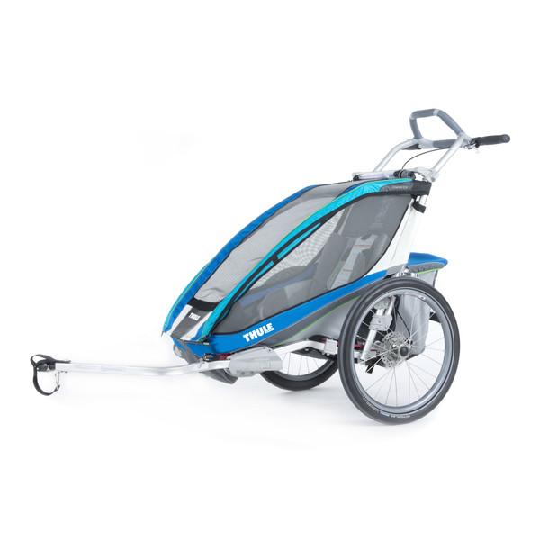 Chariot CX 1 blau + Fahrradset