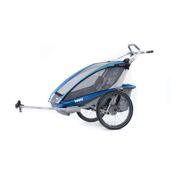 Chariot CX 2 blau + Fahrradset