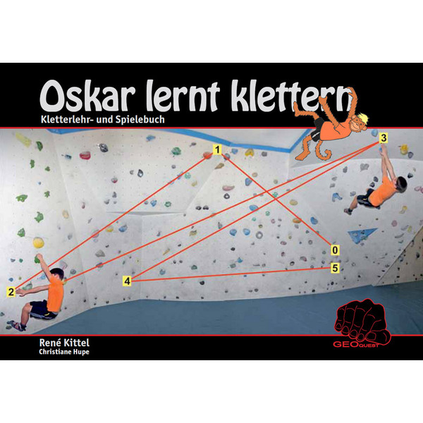 Oskar lernt klettern