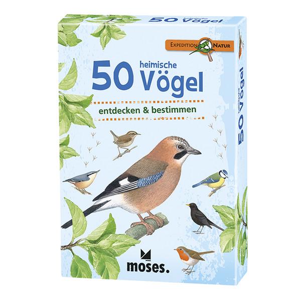 Moses Verlag EXPEDITION NATUR 50 HEIMISCHE VÖGEL Kinder - Kinderbuch