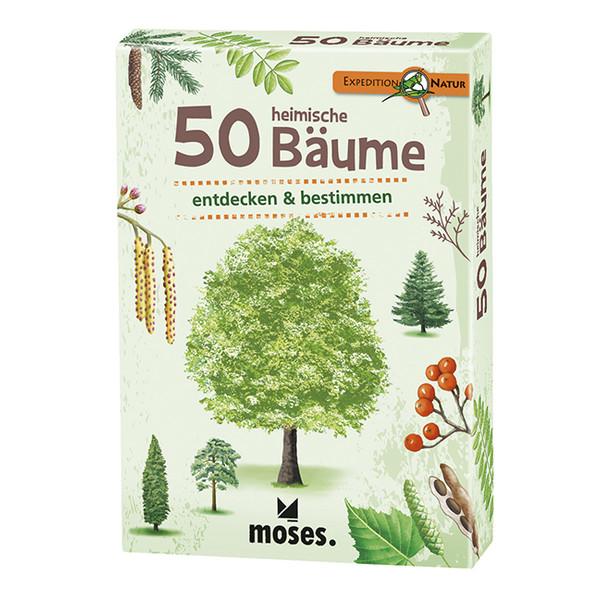 Moses Verlag EXPEDITION NATUR 50 HEIMISCHE BÄUME Kinder - Reisespiele