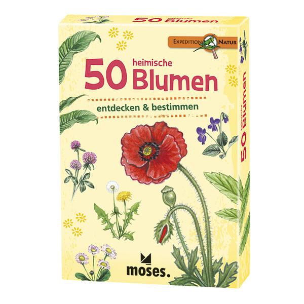 Moses Verlag EXPEDITION NATUR 50 HEIMISCHE BLUMEN Kinder