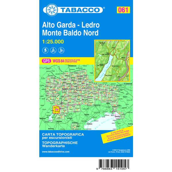TABACCO #61 ALTO GARDA - LEDRO - Wanderkarte