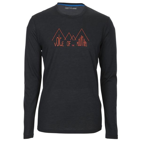 Ortovox 150 Merino Cool L/S Ridge Print Männer - Funktionsshirt