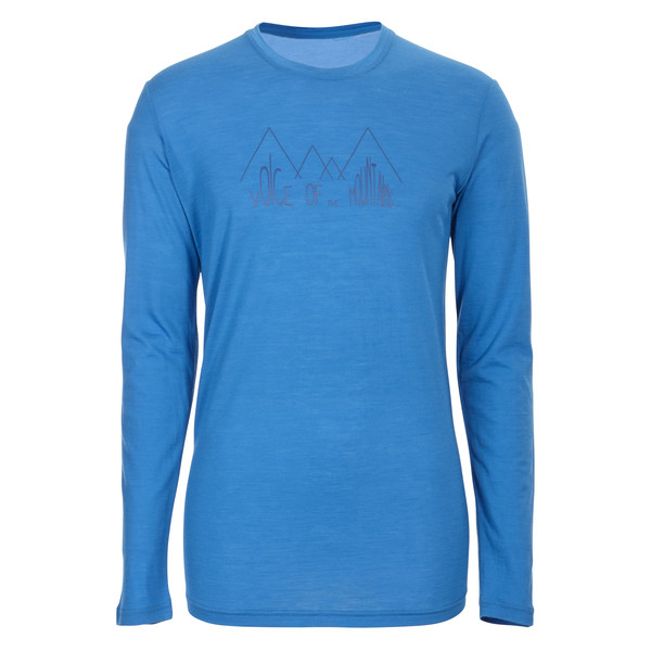 150 Merino Cool L/S Ridge Print