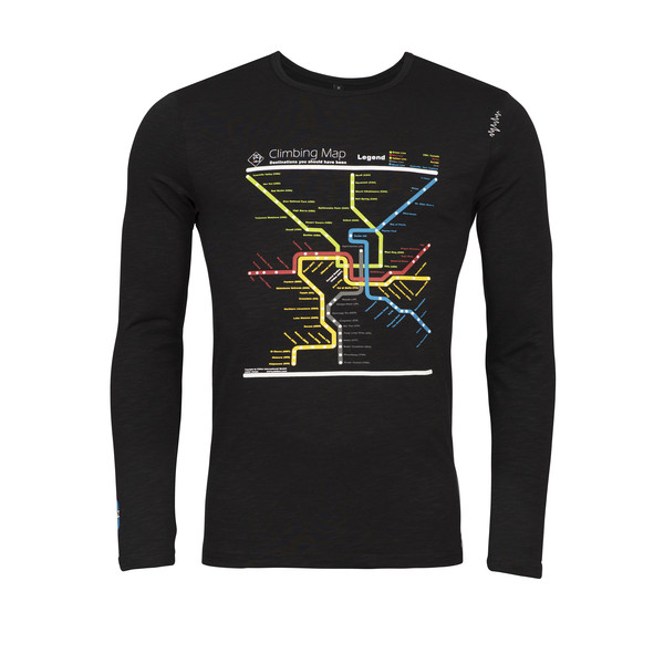 Chillaz LS Street Map Männer - T-Shirt