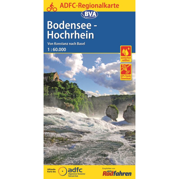 ADFC-Regionalkarte Bodensee-Hochrhein