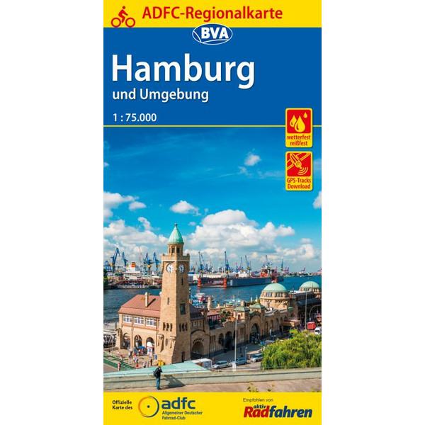 ADFC-Regionalkarte Hamburg und Umgebung