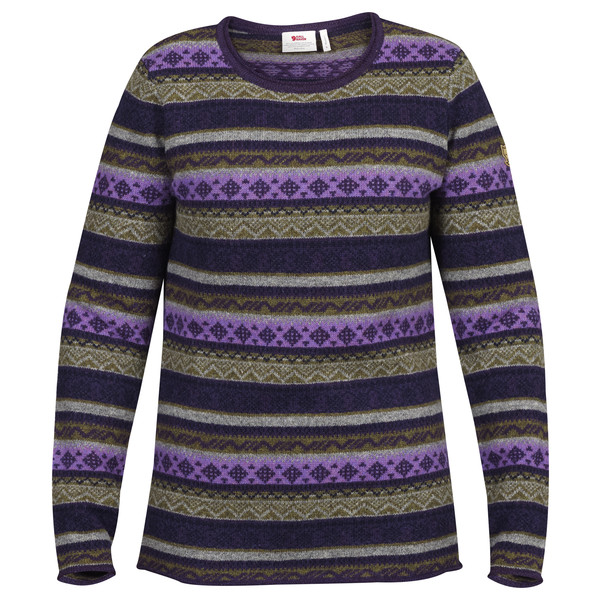 Fjällräven Övik Folk Knit Sweater W Frauen - Wollpullover