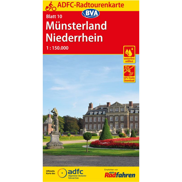 ADFC-Radtourenkarte 10 Münsterland