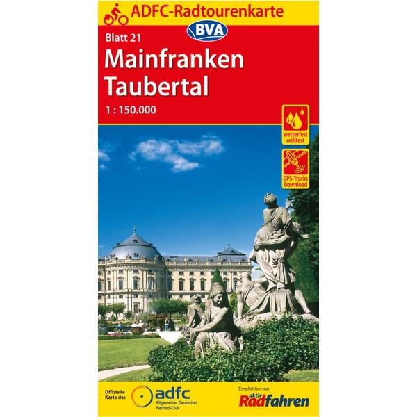 ADFC-Radtourenkarte 21 Mainfranken